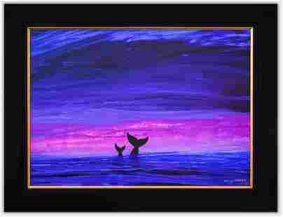 "Wyland- Original Painting on Canvas ""Ocean Dive"""
