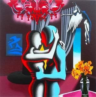 "Mark Kostabi ""Embracing The Future"" Original Serigraph"