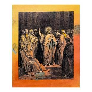 "Steve Kaufman (1960-2010) ""Jesus in the Temple"" Hand"