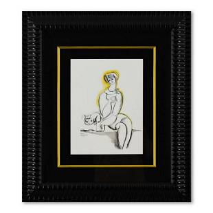 Yuroz, Framed Original Mixed Media Watercolor Painting,