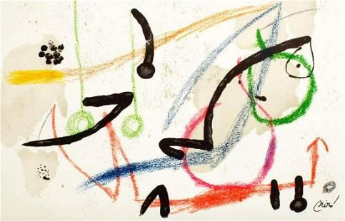"""Joan Miro- Lithograph """"Maravillas con variaciones"""