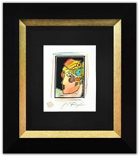 Peter Max- Original Mixed Media with Watercolor and