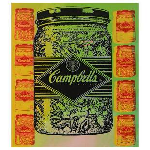 "Steve Kaufman (1960-2010) ""Campbell's Soup (Jar)"" Hand"