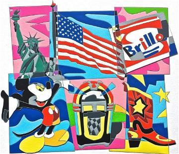 """Ugo Nespolo """"AMERICAN DREAM"""" Original Serigraph"""