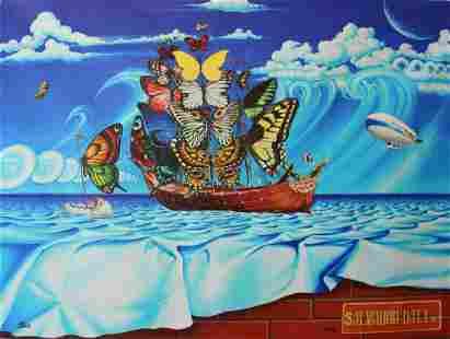 "Anatoliy Keis- Original Giclee on Canvas ""Salvador Dali"