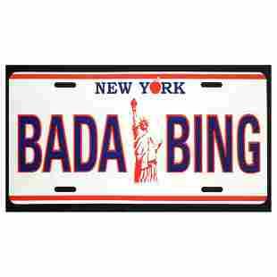 "Steve Kaufman (1960-2010) ""BADA BING"" Hand Pulled"