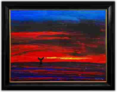 "Wyland- Original Painting on Canvas ""West Coast Ocean"""