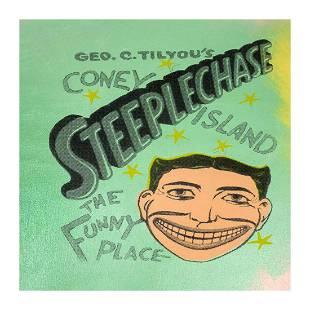 "Steve Kaufman (1960-2010) ""Steepechase, Coney Island"""