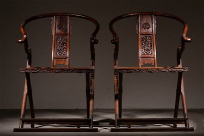Chinese Ming Dynasty Huanghuali Wood Chairs