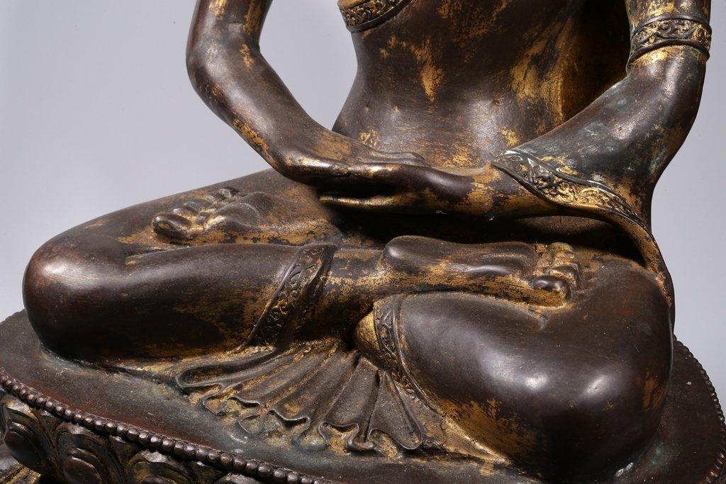 Chinese Gilt Bronze Buddha Figure - 4