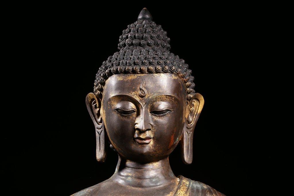 Chinese Gilt Bronze Buddha Figure - 6