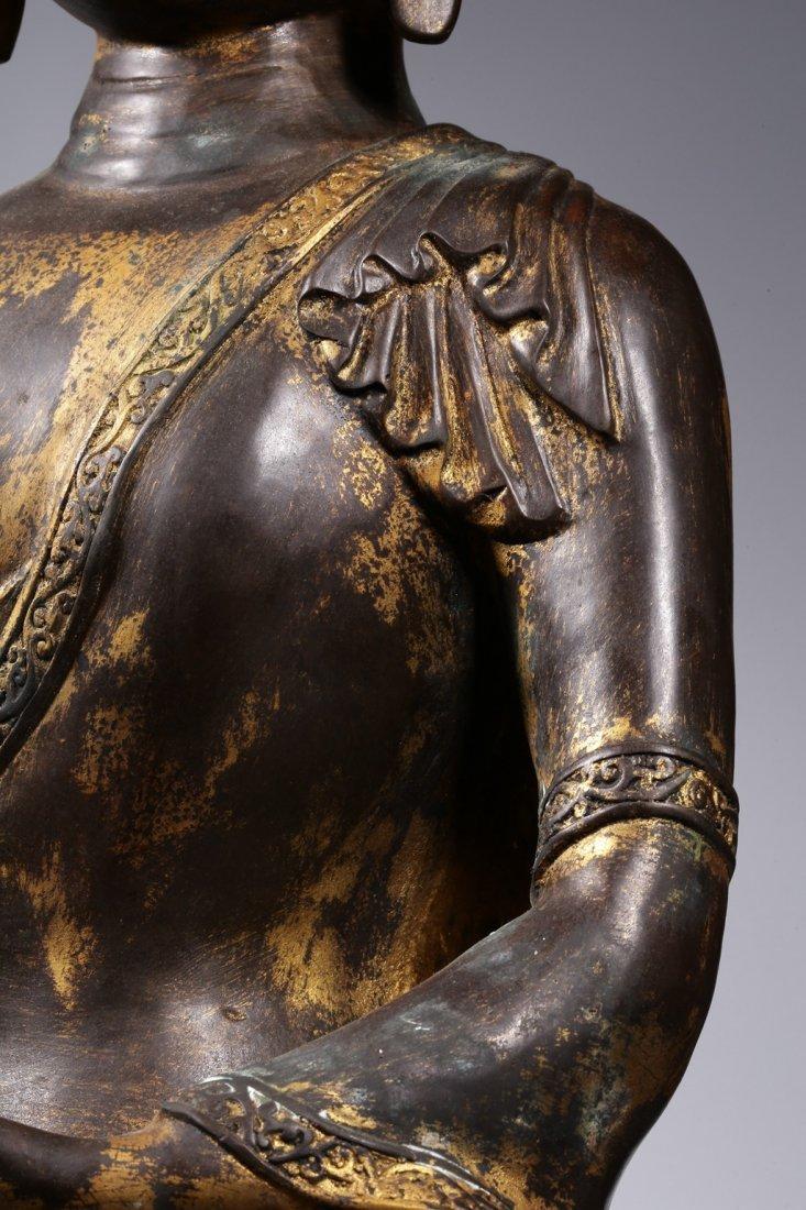 Chinese Gilt Bronze Buddha Figure - 7
