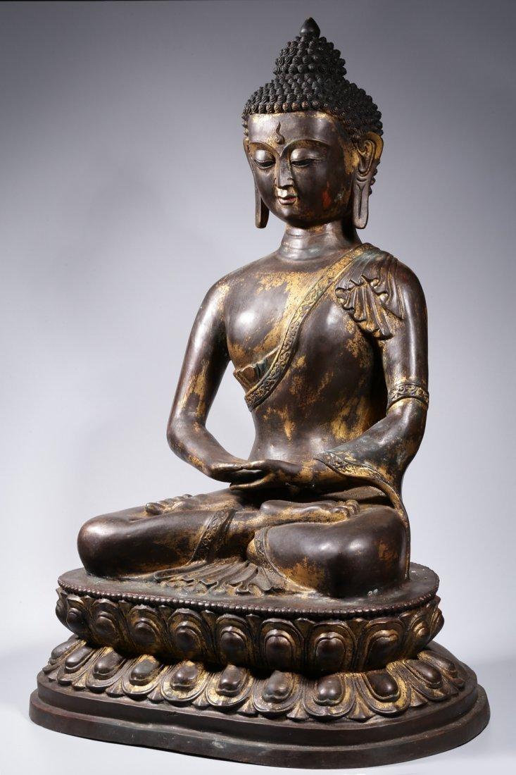 Chinese Gilt Bronze Buddha Figure - 8