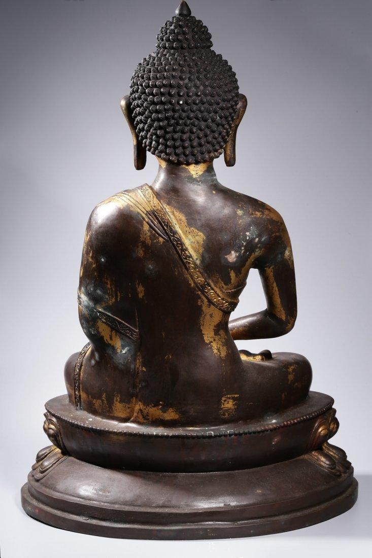 Chinese Gilt Bronze Buddha Figure - 9