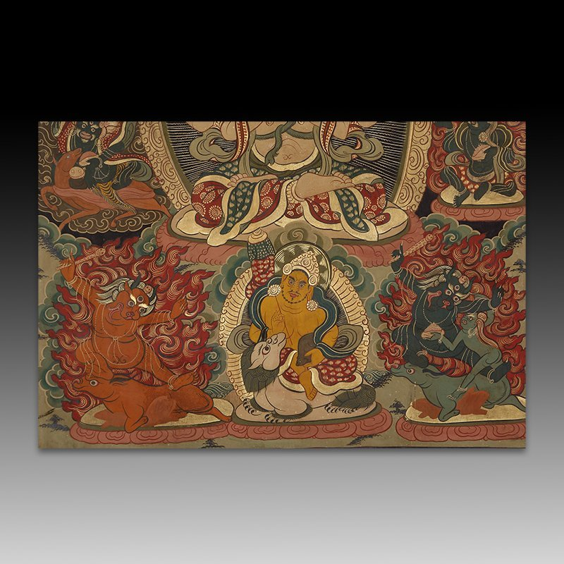 Chinese Qing Dynasty painting Buddhist Thangka - 4