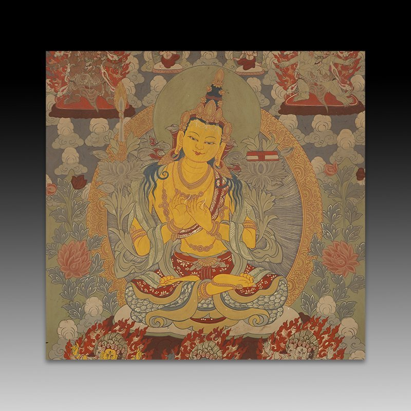 Chinese Qing Dynasty painting Buddhist Thangka - 2