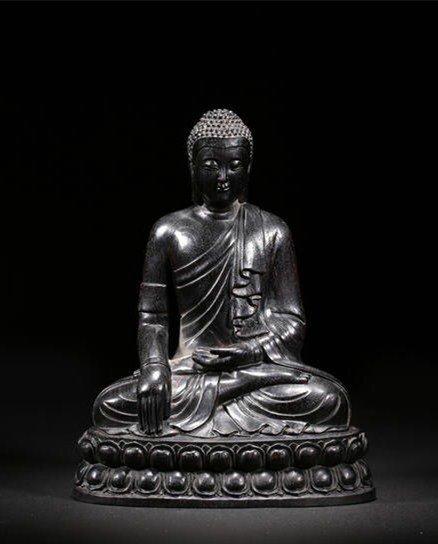 Chinese Zitan  Wood Statue Buddha