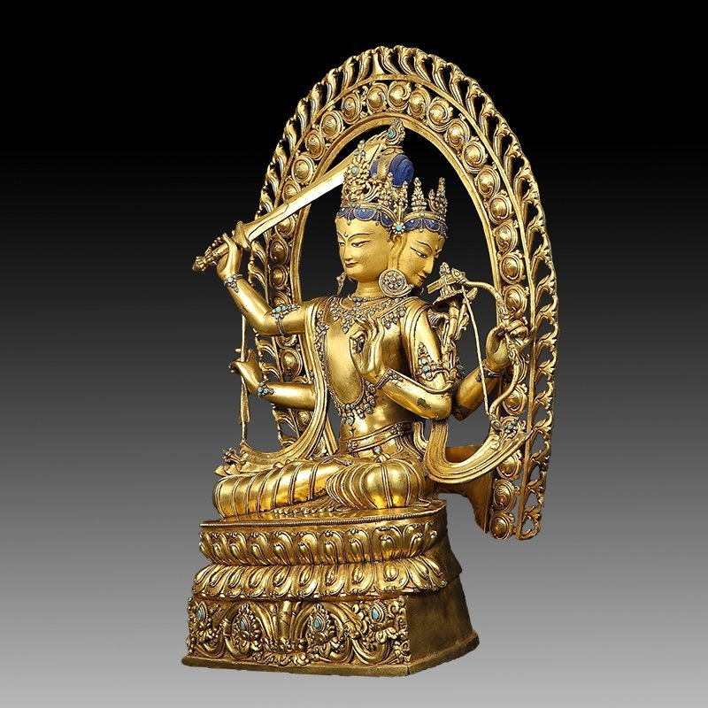 Large Chinese Gilt Bronze Figure of Buddha - 11