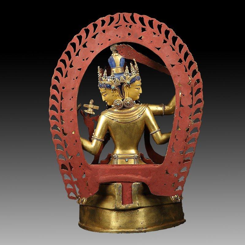 Large Chinese Gilt Bronze Figure of Buddha - 13