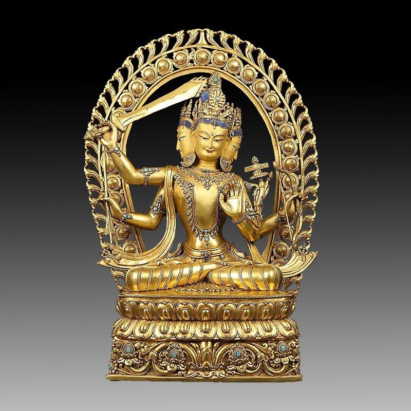 Large Chinese Gilt Bronze Figure of Buddha