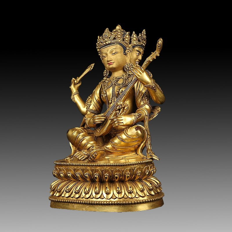 Chinese Gilt Bronze Figure of Buddha - 3