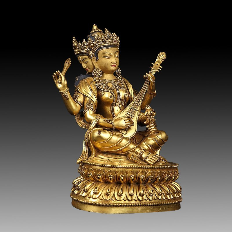 Chinese Gilt Bronze Figure of Buddha - 4
