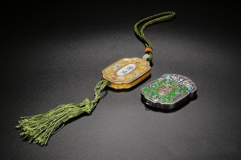 Pair of Chinese Cloisonne Enamel Brand