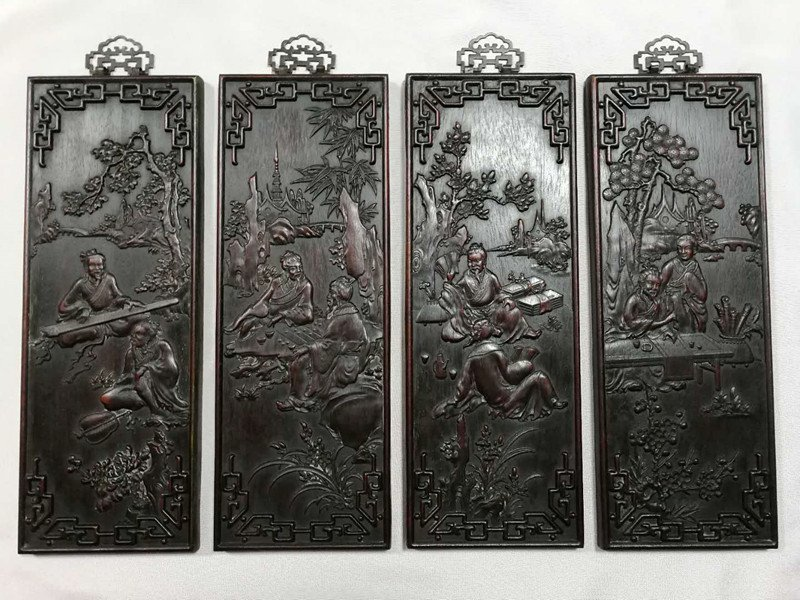Chinese Hard wood hanging on the wall screen