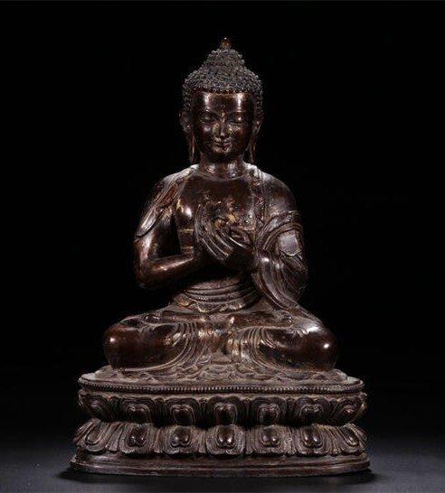 Large Chinese Qing-Style Gilt Bronze Bodhisattva