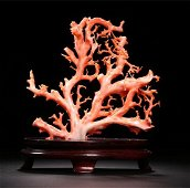 Chinese Carved Branch Coral