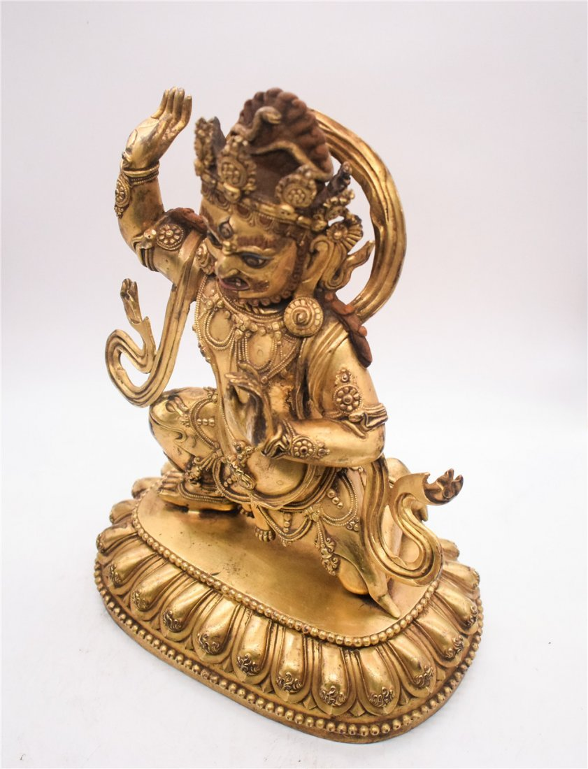 GILT BRONZE CAST VAJRAPANI FIGURE - 2