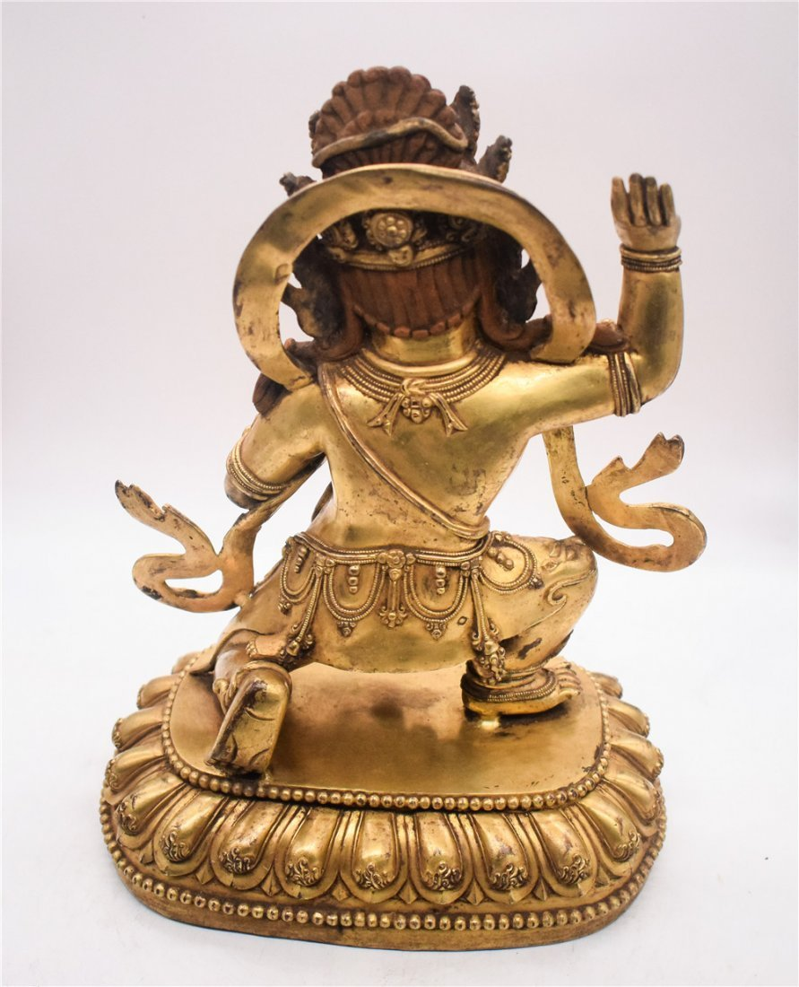 GILT BRONZE CAST VAJRAPANI FIGURE - 4