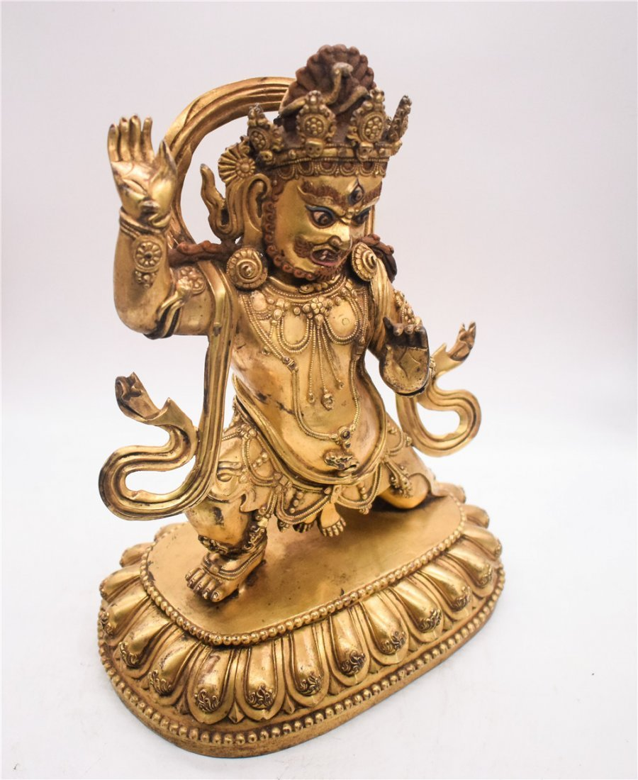 GILT BRONZE CAST VAJRAPANI FIGURE - 6