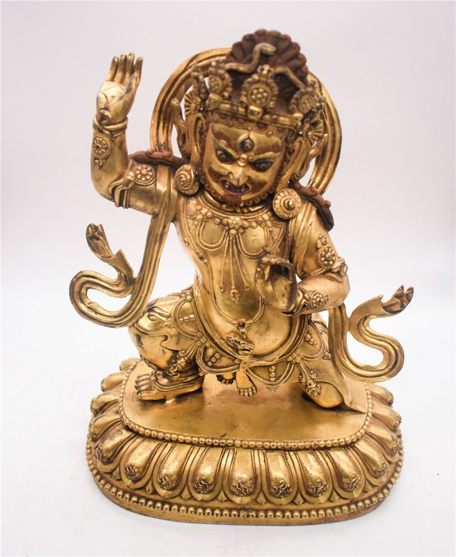 GILT BRONZE CAST VAJRAPANI FIGURE - 7