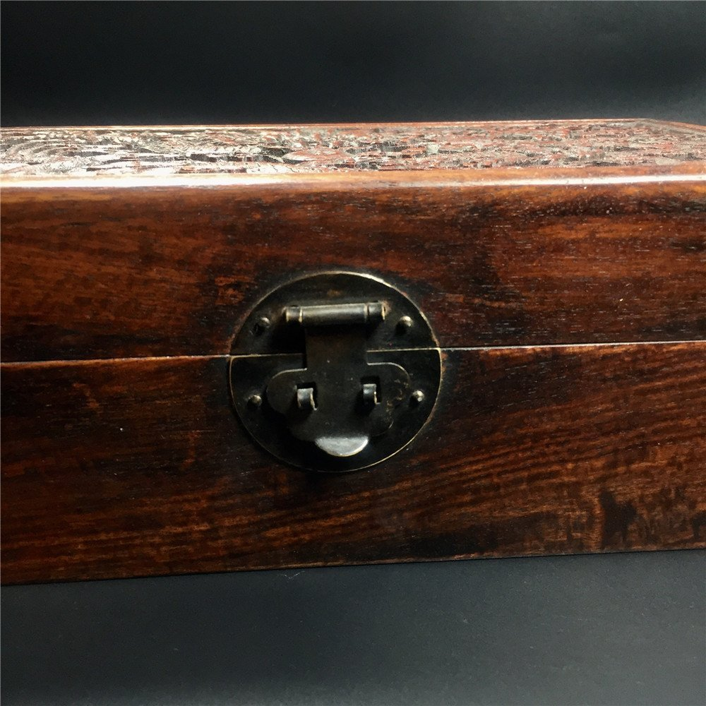 CHINESE CARVED HUALI WOODEN DRAGON BOX - 4