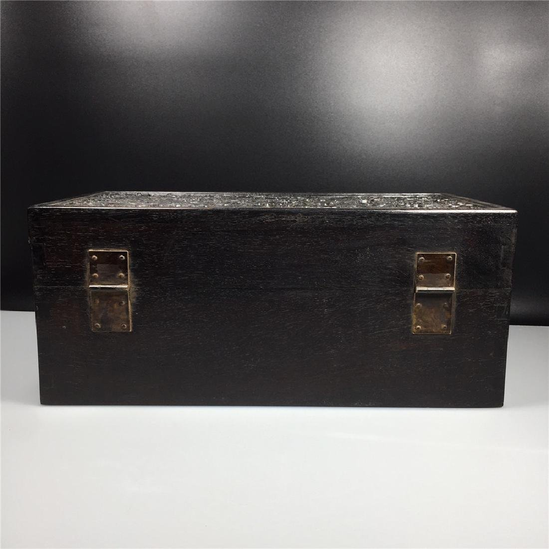 CHINESE CARVED HARDWOOD BOX - 5