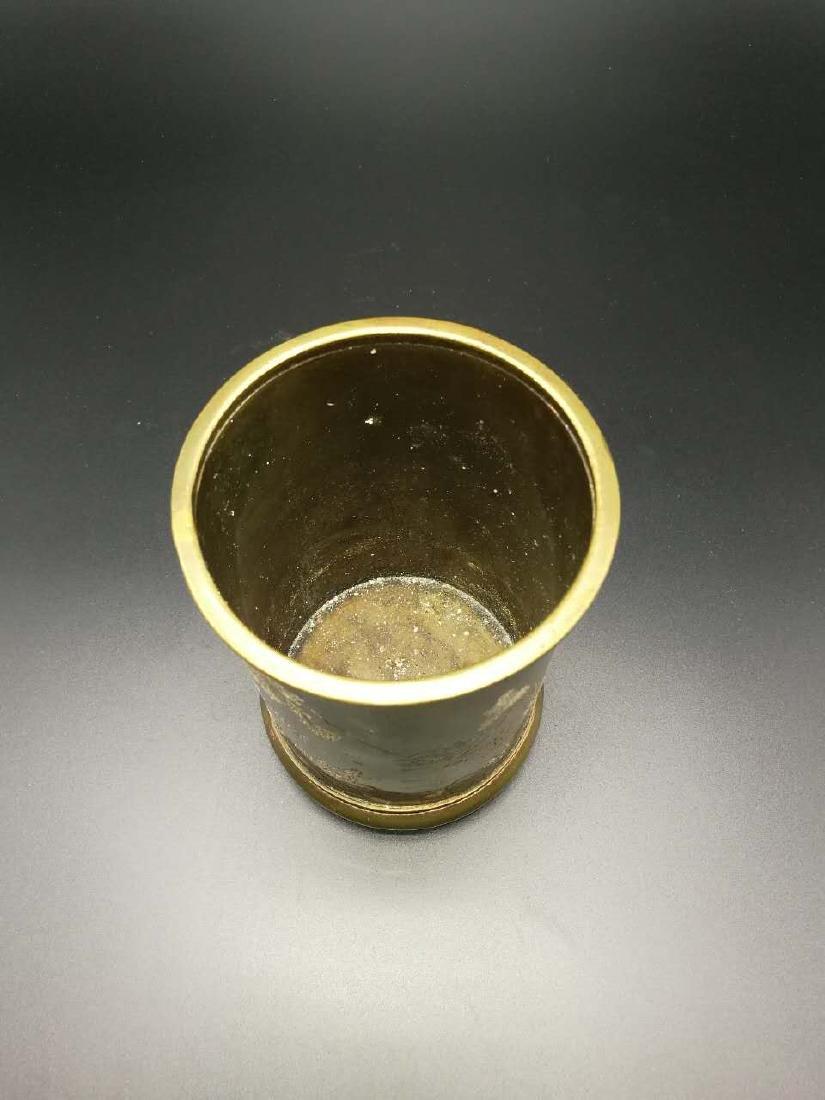 Chinese Bronze Brush Pot - 2