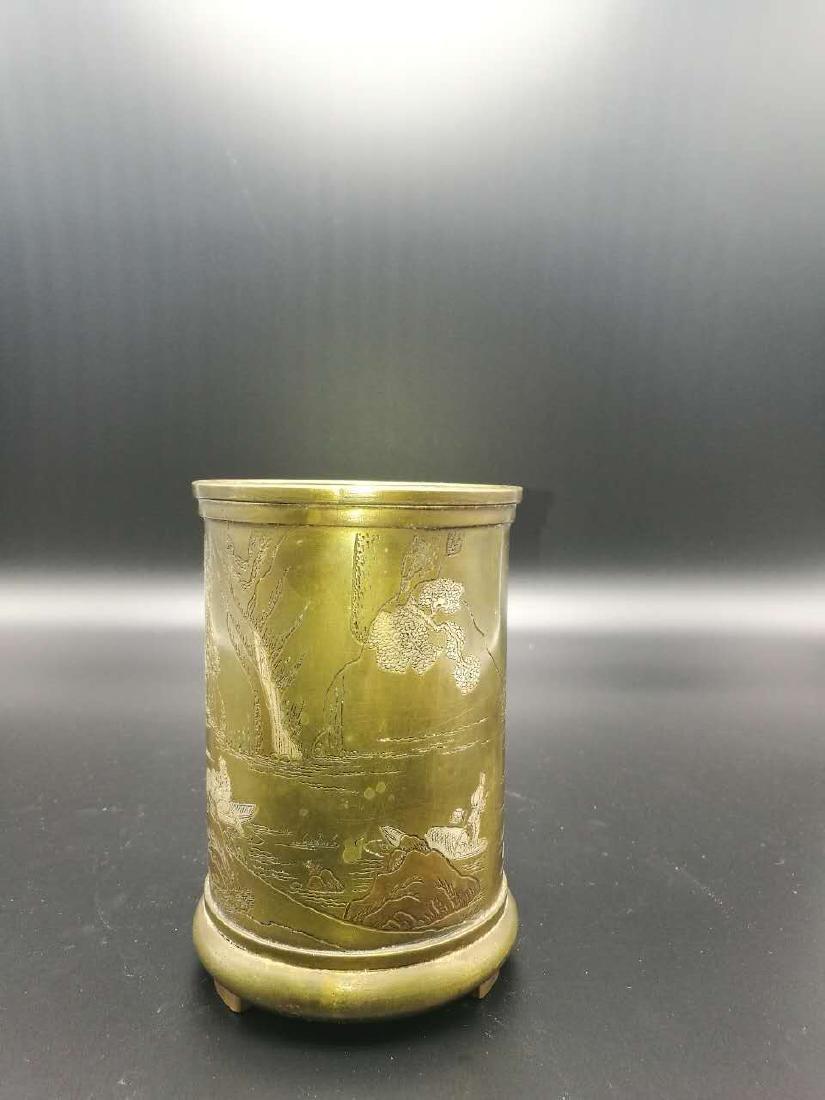 Chinese Bronze Brush Pot - 6