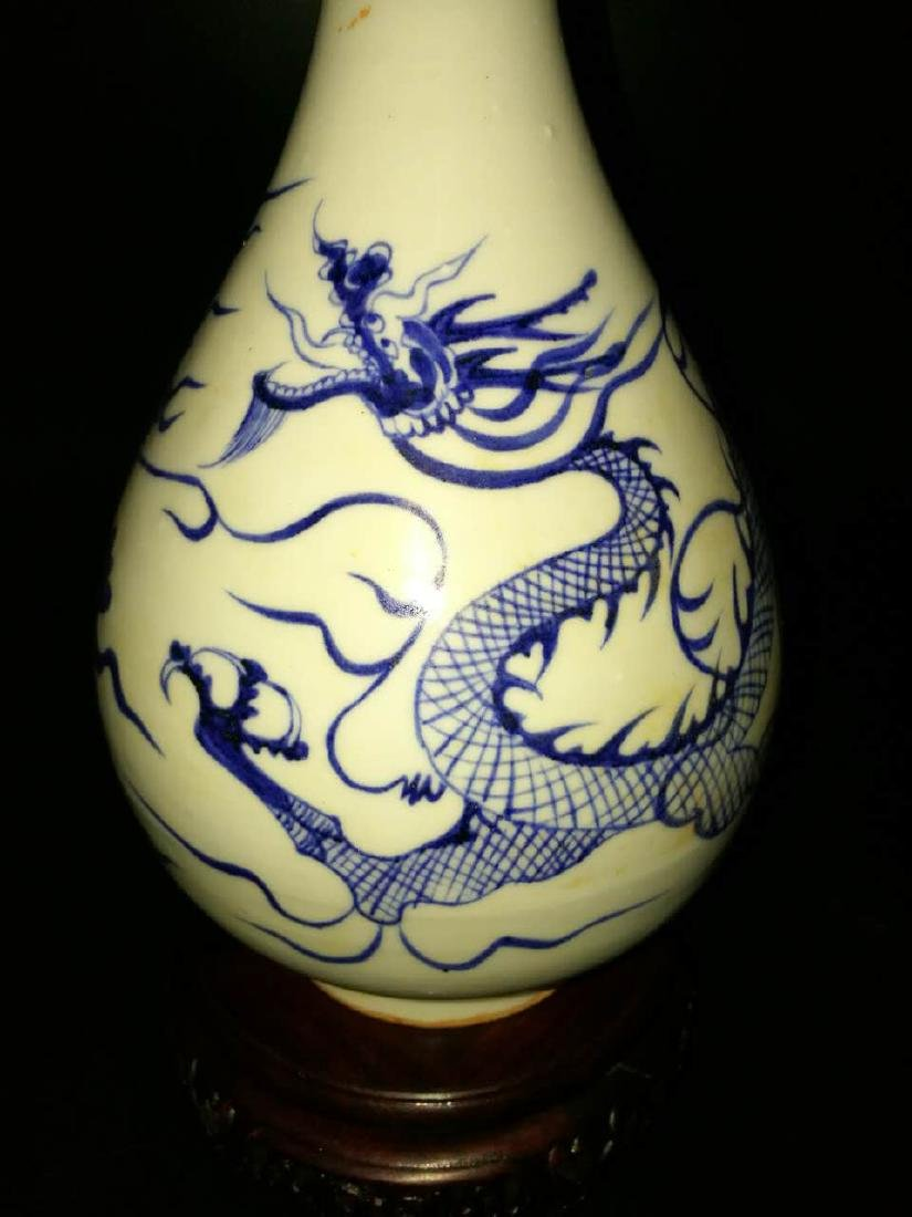 Chinese Blue And White  Porcelain Vase - 3
