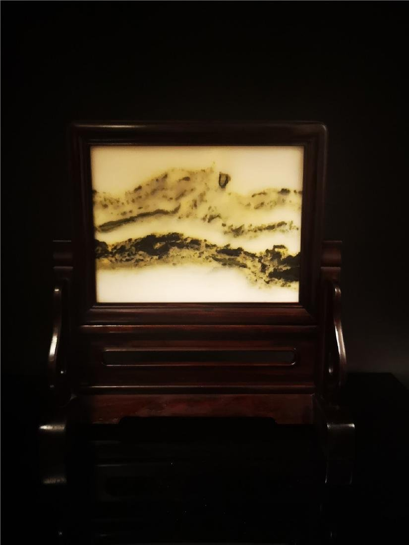 Chinese  Marble Table Screen - 2