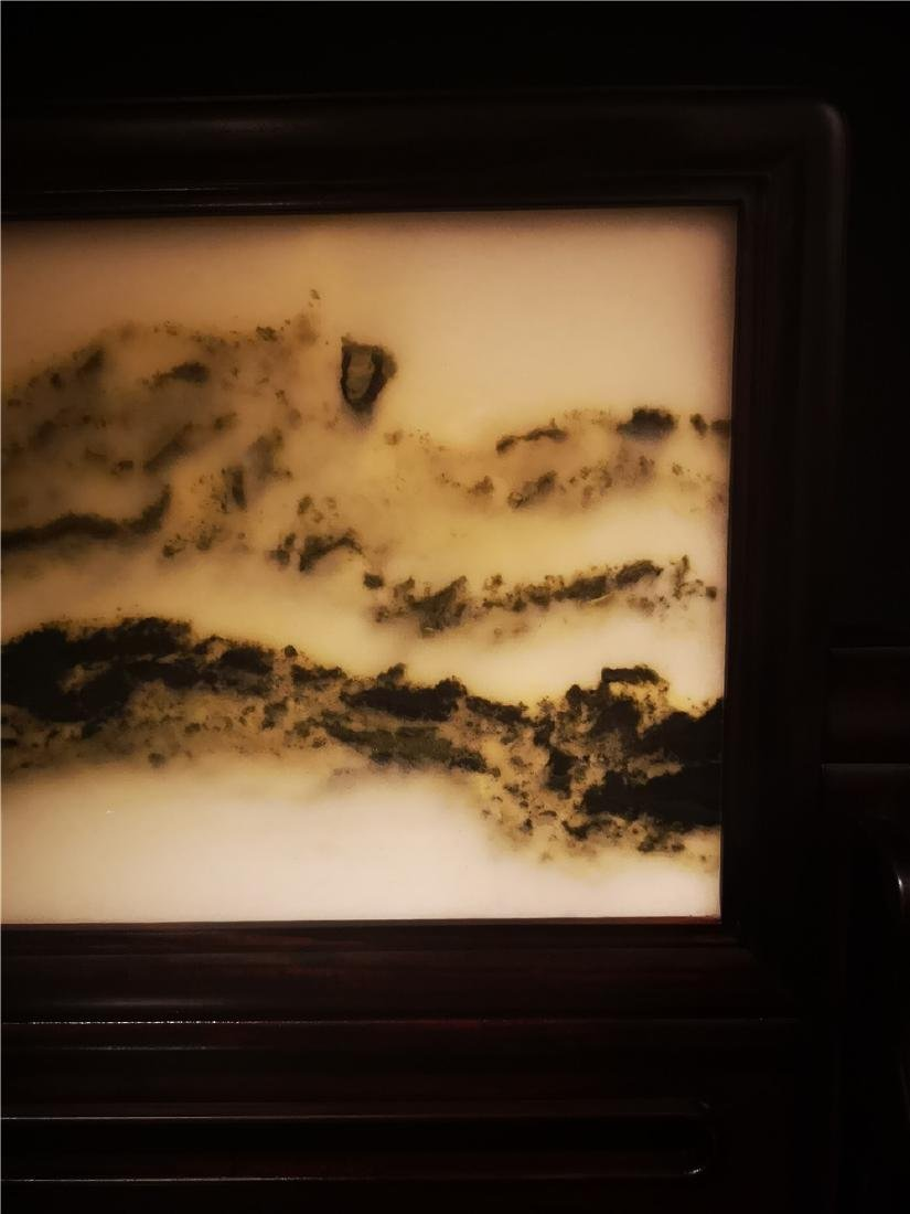 Chinese  Marble Table Screen - 3