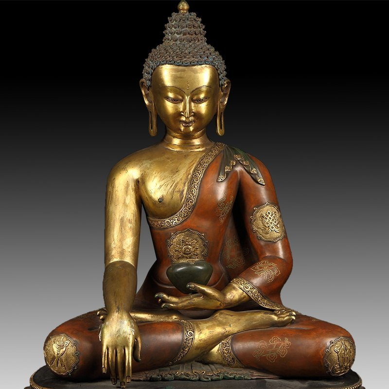 Chinese Gilt Bronze Manjushiri Buddha - 2