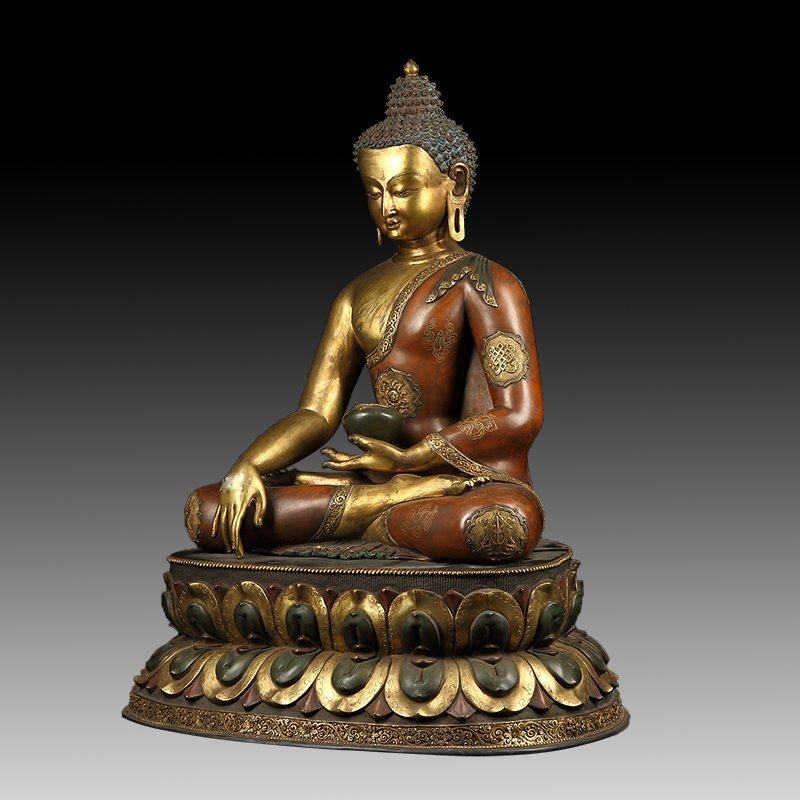 Chinese Gilt Bronze Manjushiri Buddha - 3