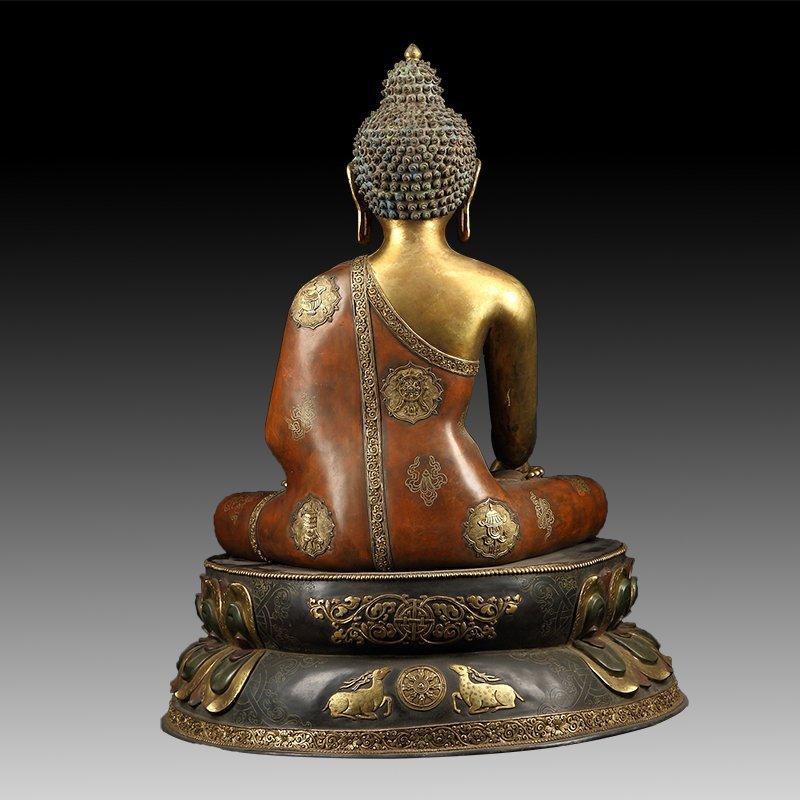 Chinese Gilt Bronze Manjushiri Buddha - 5