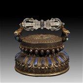 Chinese Ming Dynasty Tibetan Bronze  Vajra