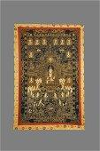 Large  Chinese Tibetan Embroidery Thangka
