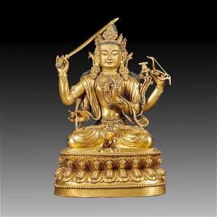 Chinese Gilt Bronze Buddha Statue Of Buddha