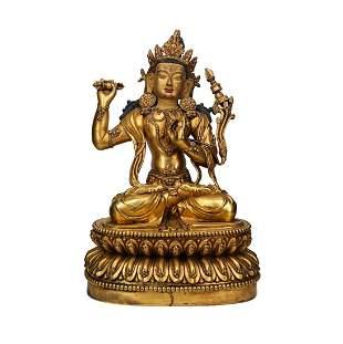 Chinese Ming Bronze Buddha Figure
