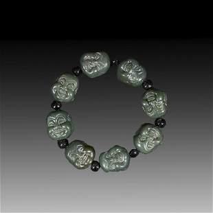 Chinese Hetian Jade Bracelet