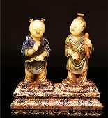 Vintage Shoushan Stone  Figure Statue